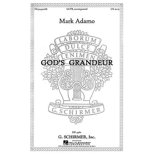 G. Schirmer God's Grandeur SATB composed by Mark Adamo