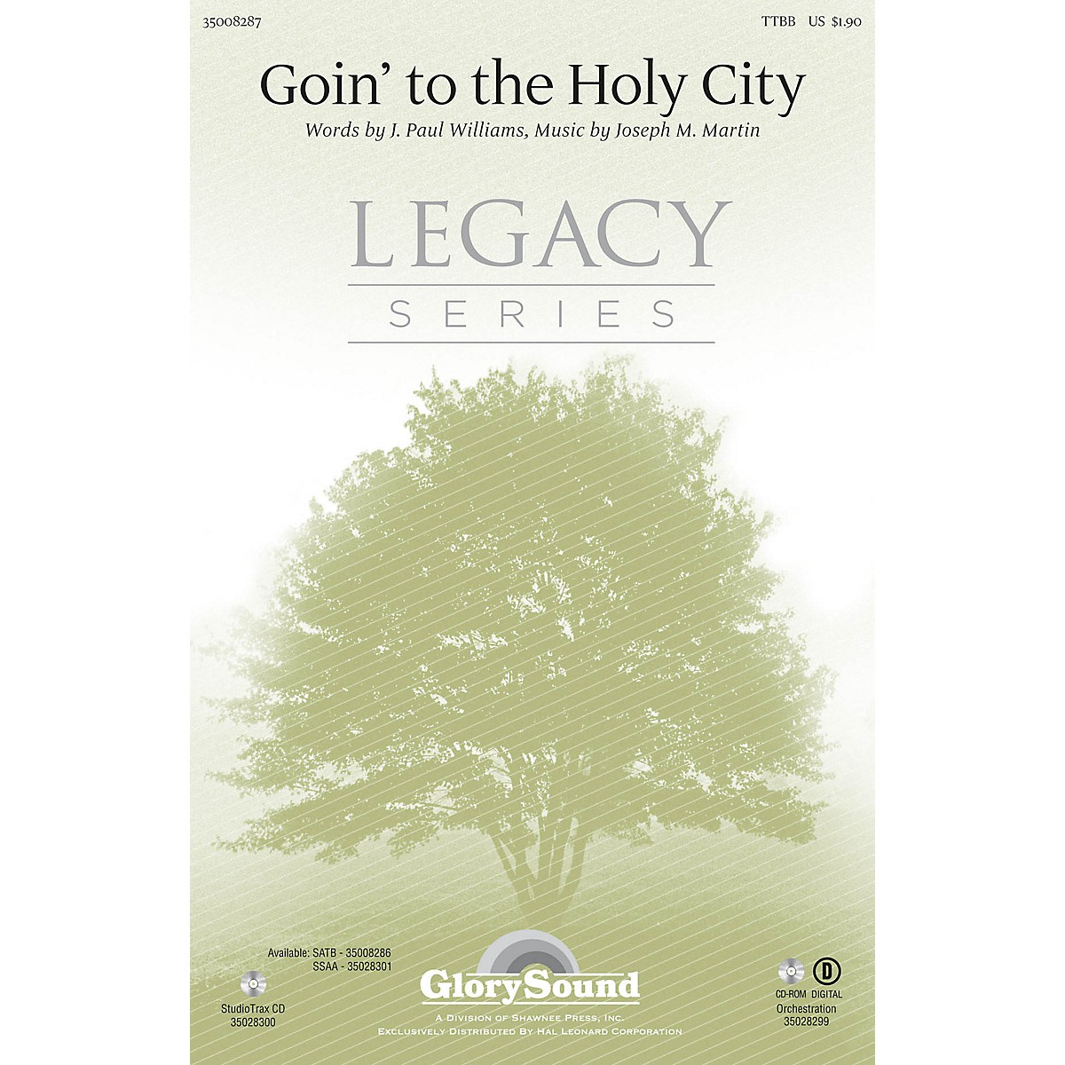 Shawnee Press Goin' to the Holy City TTBB composed by Joseph M. Martin