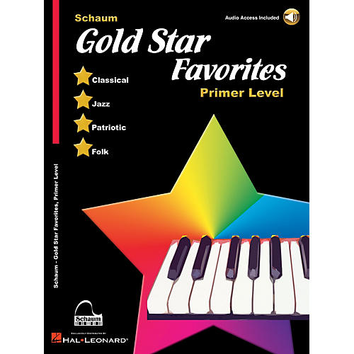 SCHAUM Gold Star Favorites (Primer Level) Educational Piano Book with CD