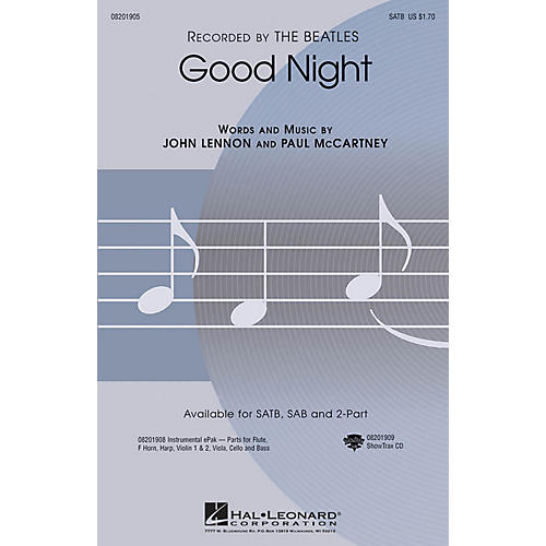 Hal Leonard Good Night ShowTrax CD by The Beatles Arranged by Audrey Snyder