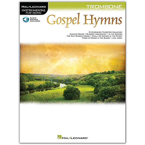 Hal Leonard Gospel Hymns For Trombone Instrumental Play-Along Book/Audio Online