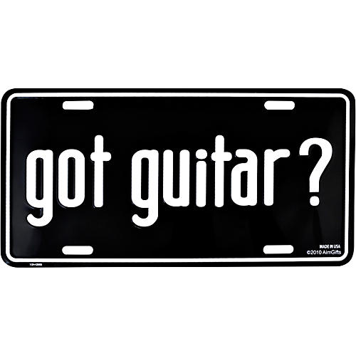 AIM Got Guitar? License Plate