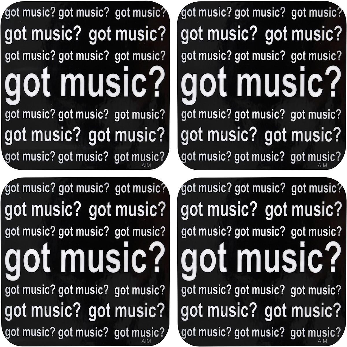 AIM Got Music Vinyl Coaster 4 Pack