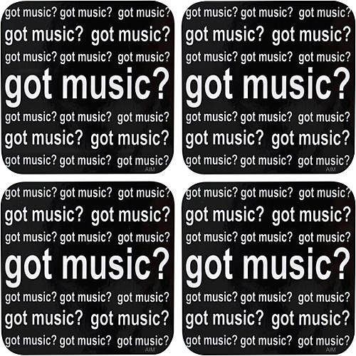 AIM Got Music Vinyl Coaster 4 Pack