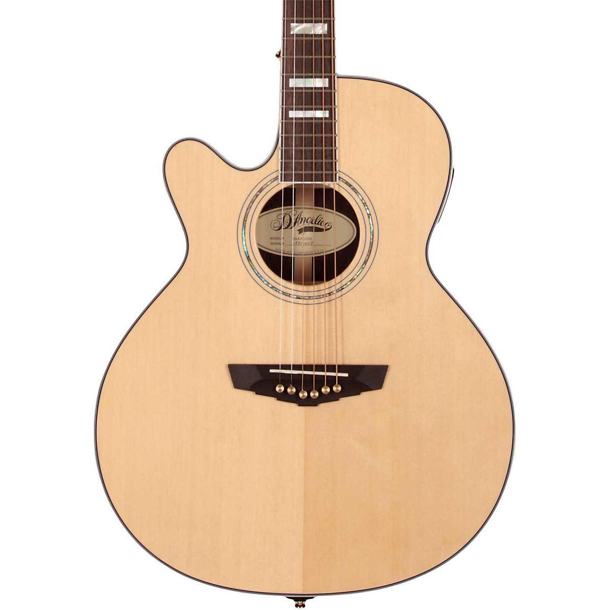 D'Angelico Gramercy Grand Auditorium Left-Handed Cutaway Acoustic-Electric Guitar