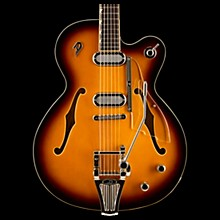 Duesenberg Gran Majesto Single Cutaway Semi-Hollow Electric Guitar Vintage Burst