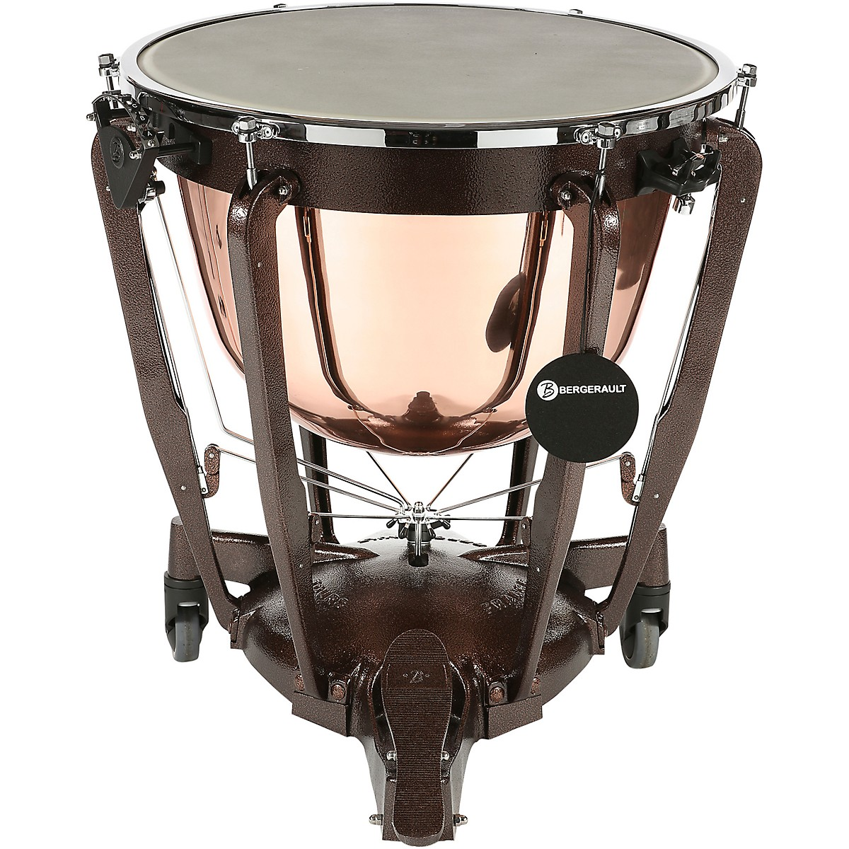 Bergerault Grand Professional Series Cambered Polish Copper Bowl Timpani