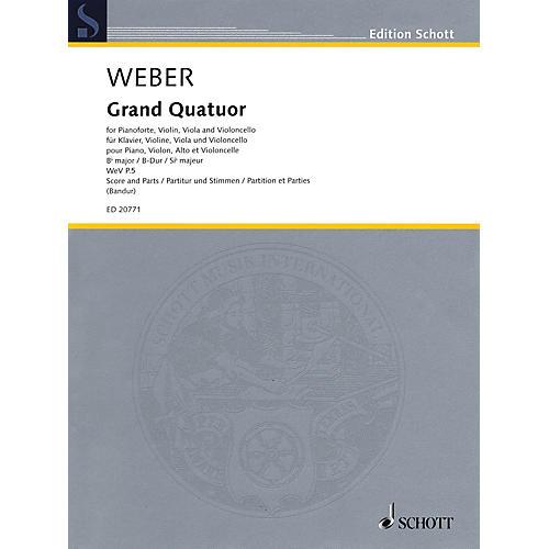 Schott Grand Quatour in B-flat Major, WeV P.5 Ensemble Composed by Carl Maria von Weber Edited by Markus Bandur