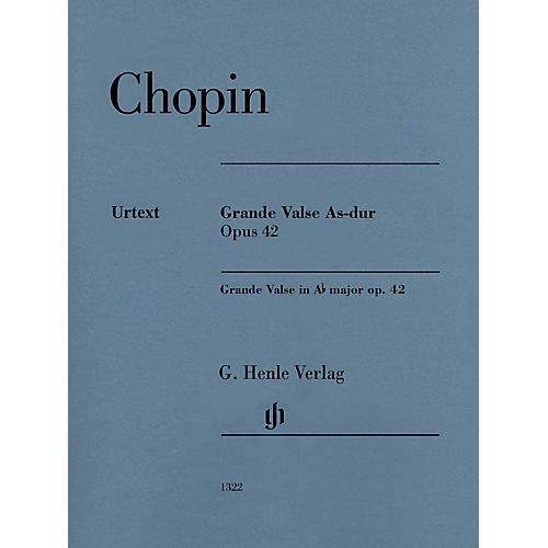 G. Henle Verlag Grande Valse A-flat Major Op. 42 (Edition with Fingering) Henle Music Folios Series Softcover
