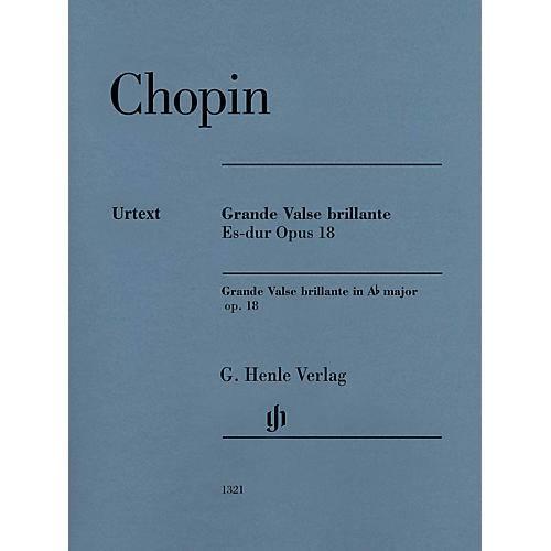 G. Henle Verlag Grande Valse Brillante E-flat Major Op. 18 (Edition with Fingering) Henle Music Folios Series Softcover
