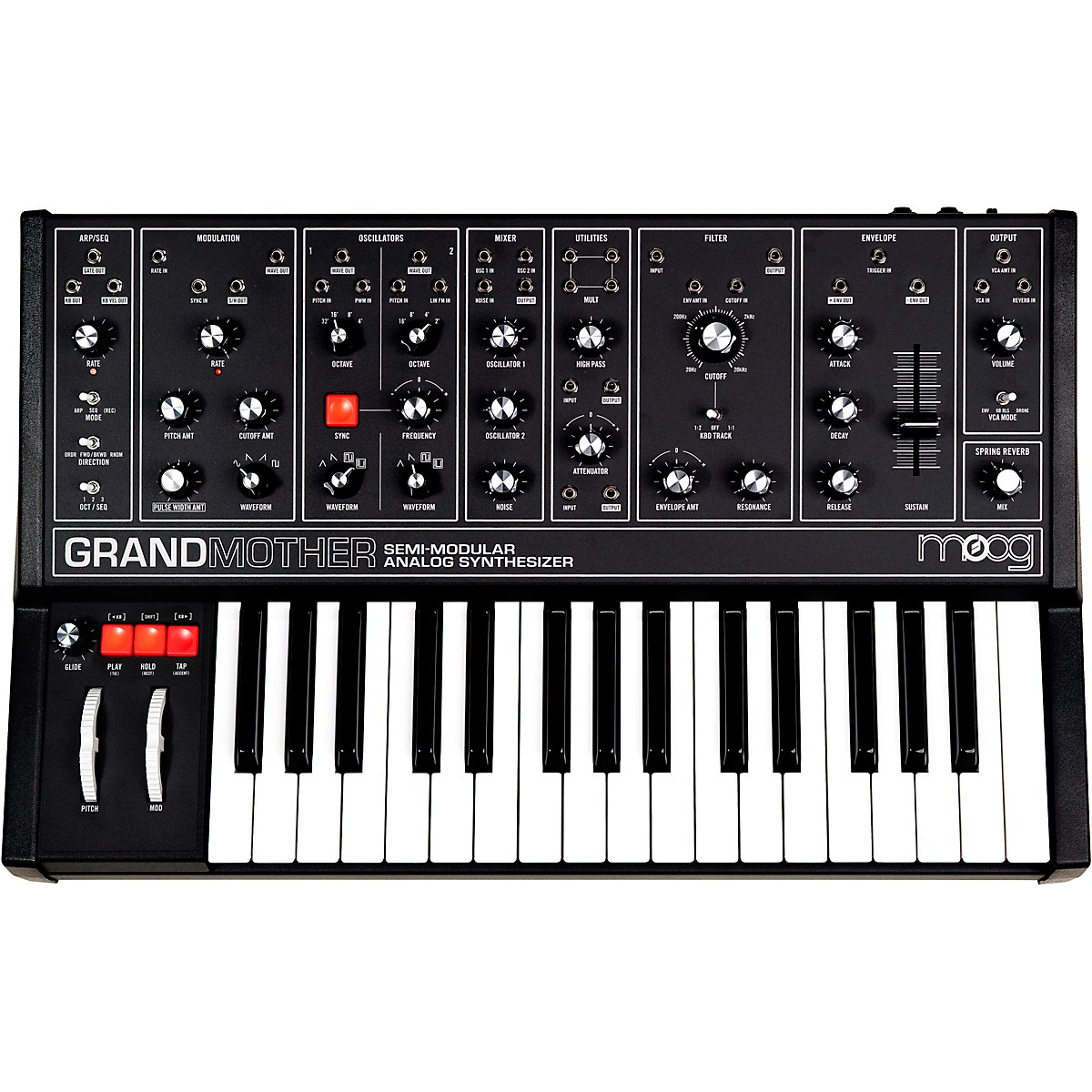 Moog Grandmother Dark Semi-Modular Analog Synthesizer
