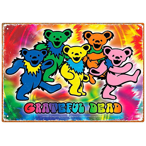 Hal Leonard Grateful Dead Bears Tin Sign