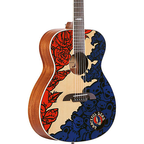 Alvarez Grateful Dead OM Acoustic Guitar Lightning
