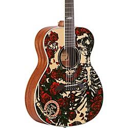 Grateful Dead OM Acoustic Guitar Roses