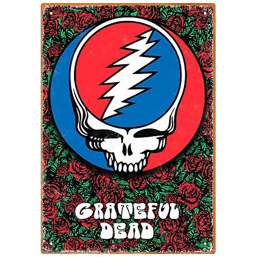 Hal Leonard Grateful Dead Roses Tin Sign