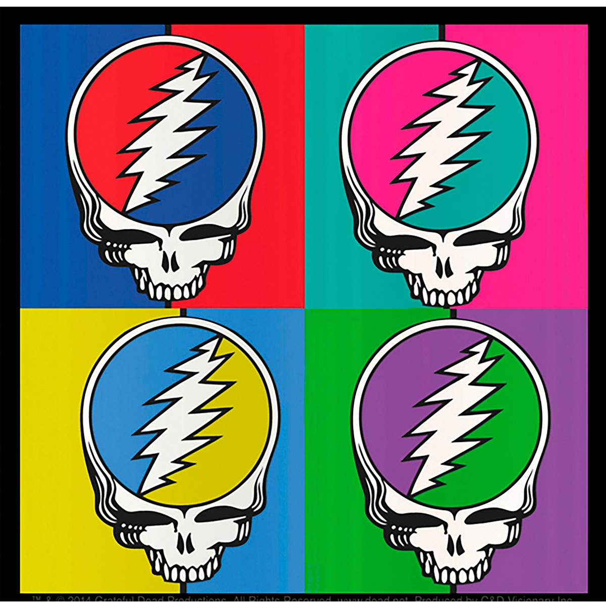 C&D Visionary Grateful Dead SYF 4 Square Sticker