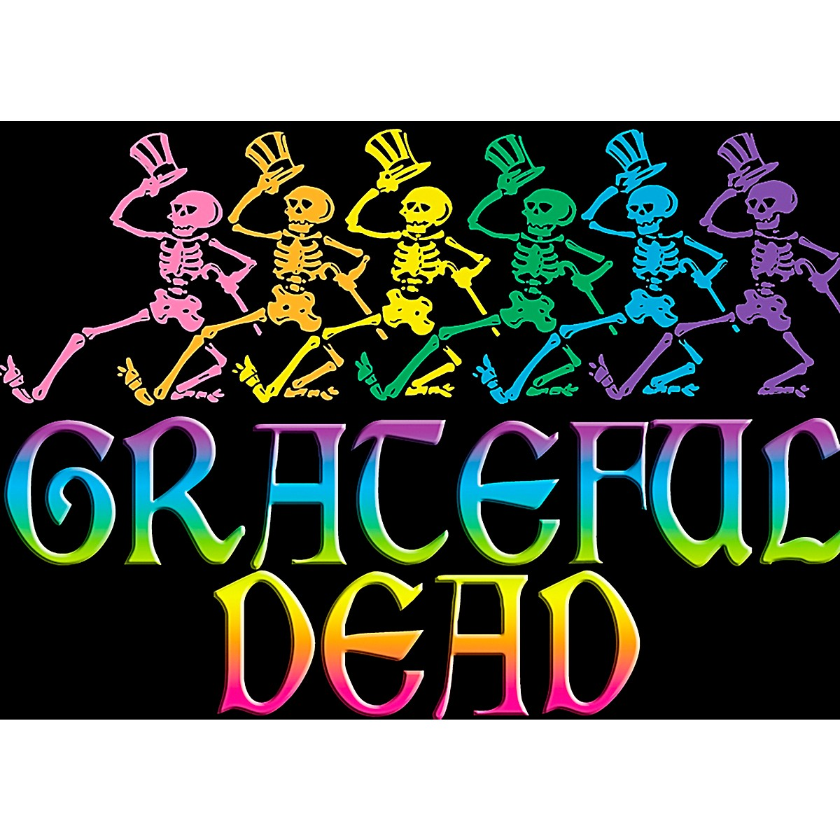C&D Visionary Grateful Dead Skelly & Rainbow Magnet