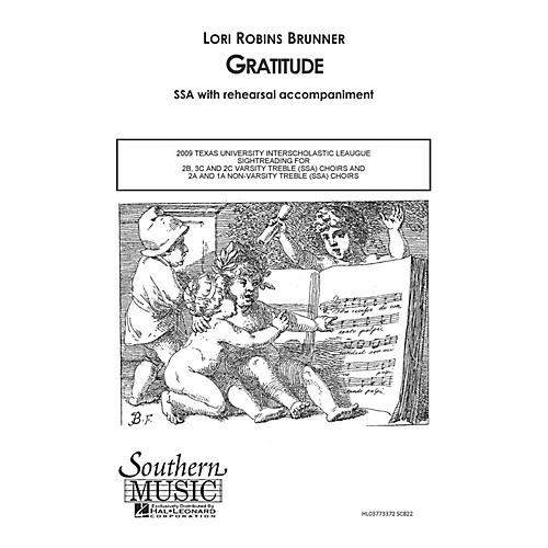 Southern Gratitude SSA Composed by Lori Robins Brunner