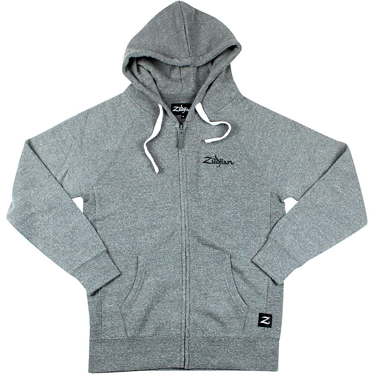 Zildjian Gray Zip Up Logo Hoodie