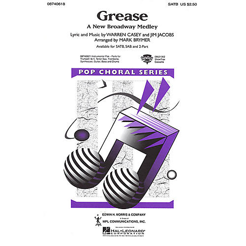 Hal Leonard Grease (A New Broadway Medley) ShowTrax CD Arranged by Mark Brymer