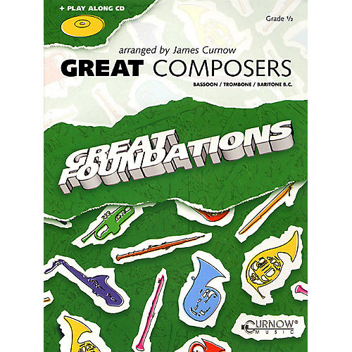 Curnow Music Great Composers (Bassoon/Trombone/Baritone B.C. - Grade 0.5) Concert Band Level 1/2