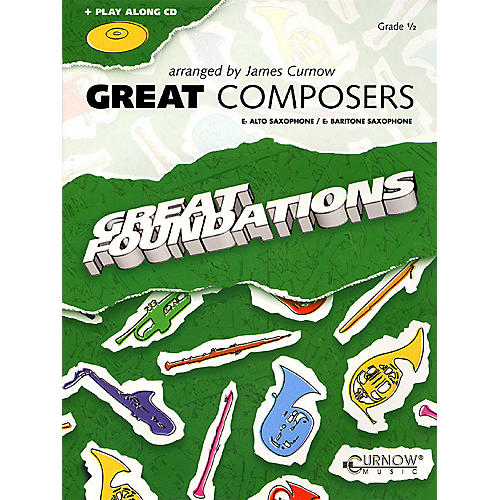 Curnow Music Great Composers (Eb Alto Sax/Eb Baritone Sax - Grade 0.5) Concert Band Level 1/2