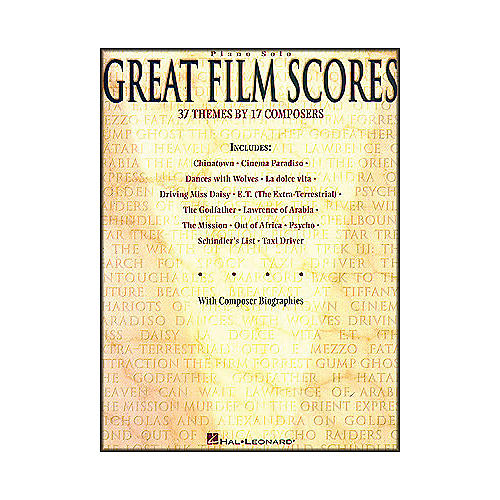 Hal Leonard Great Film Scores arranged for piano solo