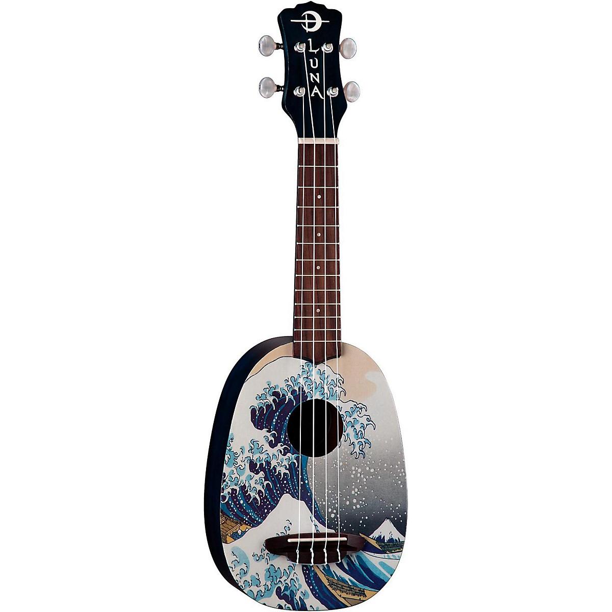Luna Guitars Great Wave Soprano Ukulele