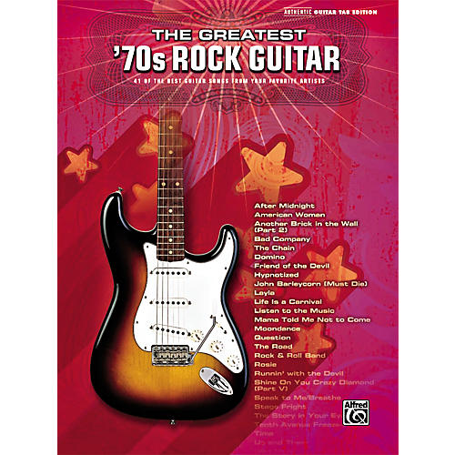 Alfred Greatest '70s Rock Guitar Tab Songbook