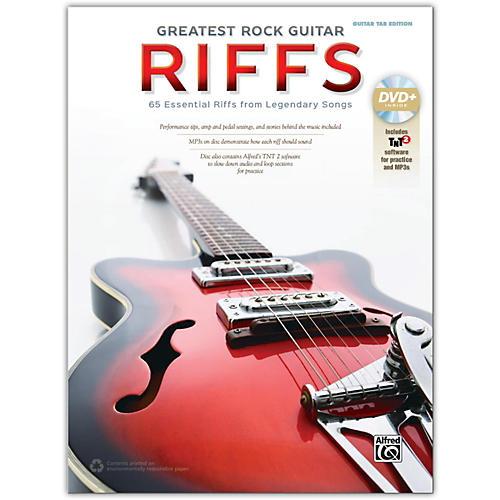 Alfred Greatest Rock Guitar Riffs Guitar TAB Book & DVD-ROM
