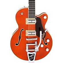 Gretsch G6659T Players Edition Broadkaster Jr. Center Block Single-Cut with String-Thru Bigsby Round-Up Orange