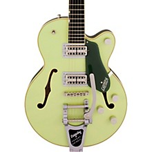 Gretsch G6659T Players Edition Broadkaster Jr. Center Block Single-Cut with String-Thru Bigsby Two-Tone Smoke Green