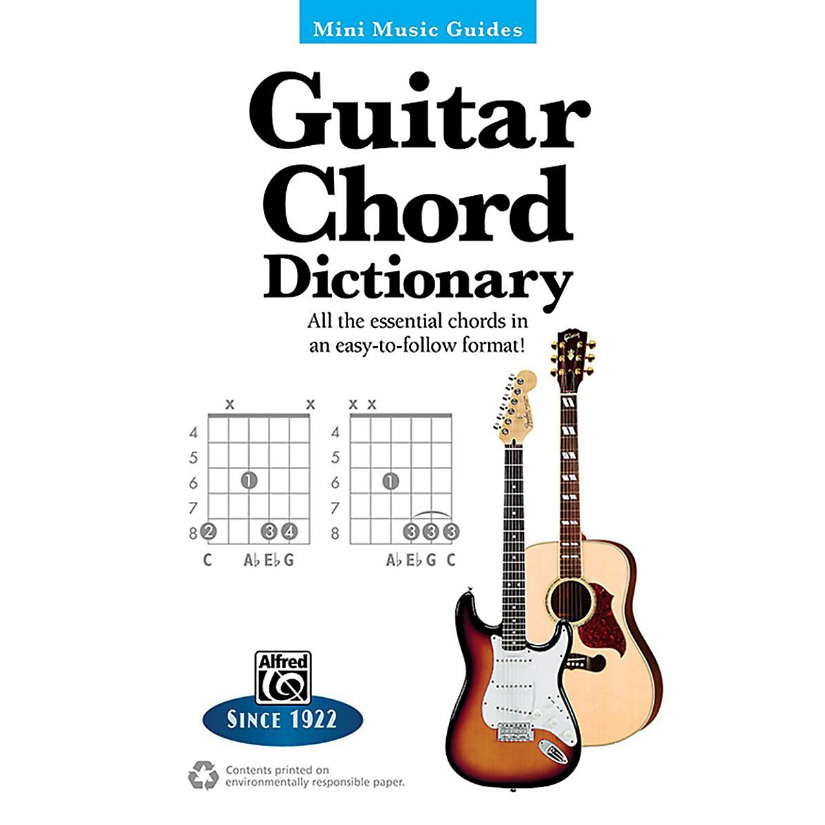 Alfred Guitar Chord Dictionary Mini Music Guides Book