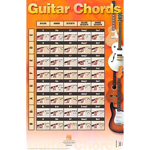 Hal leonard guitar chords poster guitar center
