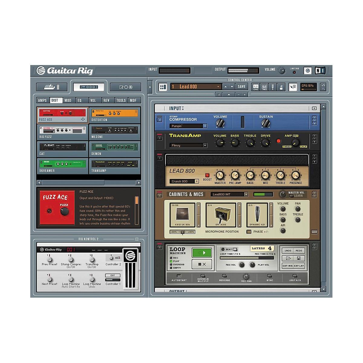 Guitar rig 2 software