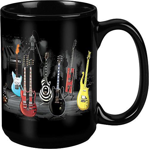 Taboo Guitar Stripe Black Mug 15 oz