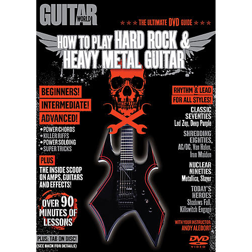Alfred Guitar World How To Play Hard Rock & Heavy Metal Guitar (DVD)