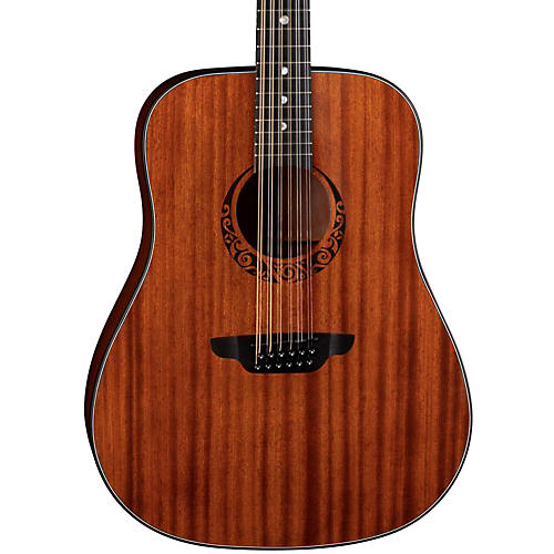 luna guitars gypsy 12 string dreadnought mahogany acoustic guitar satin natural guitar center. Black Bedroom Furniture Sets. Home Design Ideas