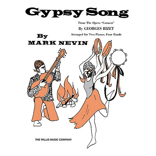 Willis Music Gypsy Song from Carmen (2 Pianos, 4 Hands/Mid-Inter Level) Willis Series by BIZET