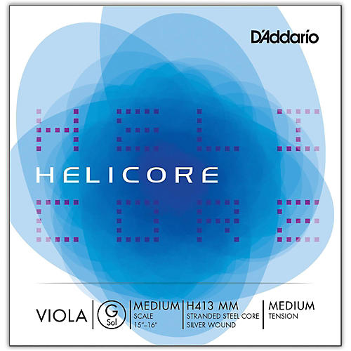 D'Addario H413 Helicore Long Scale Viola Light G String