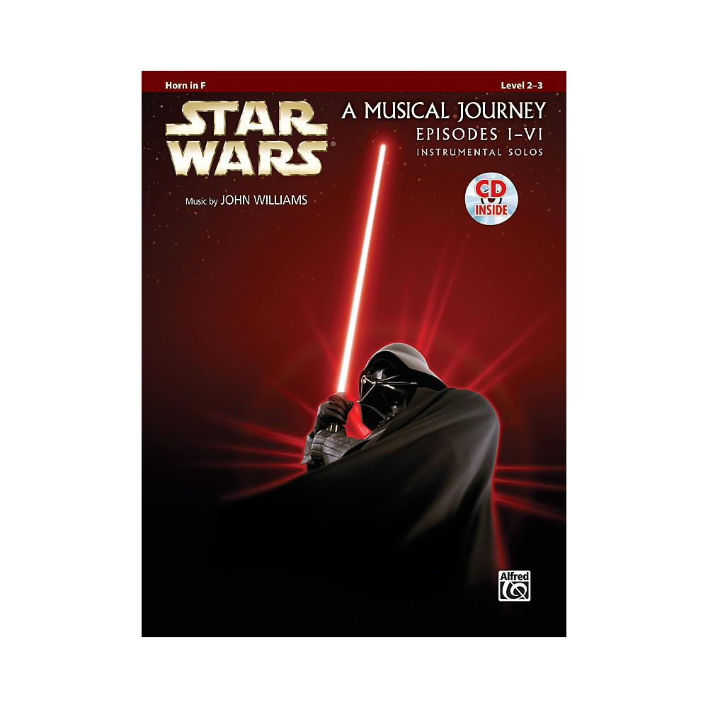 Alfred Star Wars Instrumental Solos (Movies I-VI) Horn in F Book & CD 1281045523018