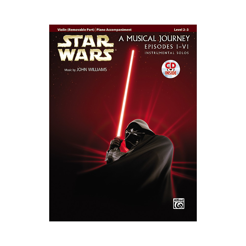 Alfred Star Wars Violin Instrumental Solos for Strings (Movies I-VI) Book & CD 1288217329558