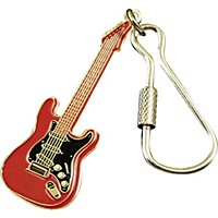Aim Electric Guitar Keychain Red