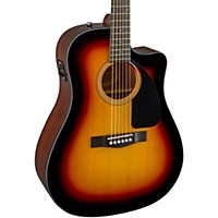 Fender Cd60ce Cutaway Dreadnought Acoustic-Electric Guitar Sunburst