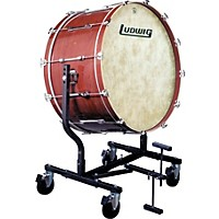 Ludwig Concert Bass Drum W/ Fiberskyn Heads & Le787 Stand Mahogany Stain 18X40