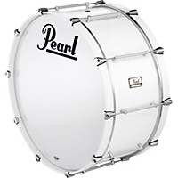 Pearl Pipe Band Bass Drum With Tube Lugs #109 Arctic White 28X16