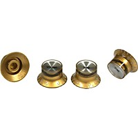 Proline Electric Guitar Top Hat Style Knobs 4-Pack Gold