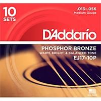 D'addario Ej17-10P Phosphor Bronze Medium  ...