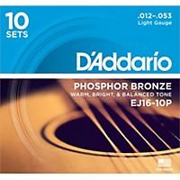 D'addario Ej16-10P Phosphor Bronze Light  ...