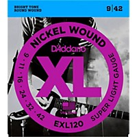 D'addario Exl120 Nickel Super Light Electric Guitar Strings